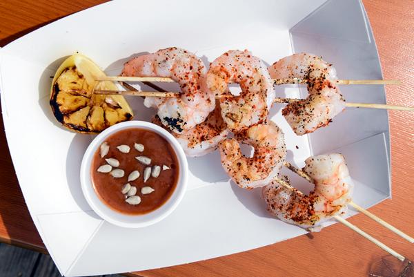 shrimp scewers
